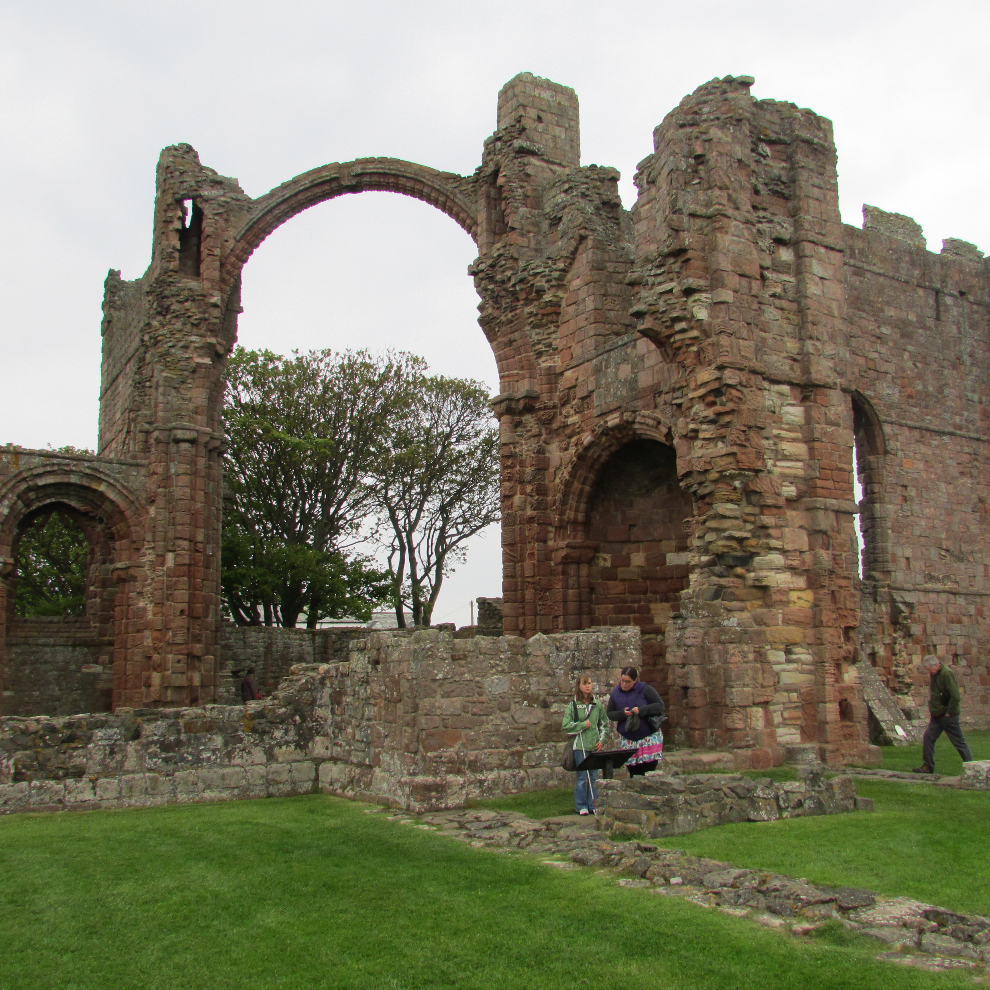 Lindisfarne crumbling arches