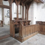 St Beuno church pew